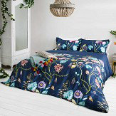 Harlequin Quintessence Double Duvet Navy Duvet Cover