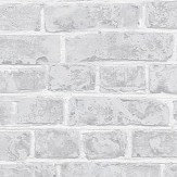 Casadeco Brick Grey and White Wallpaper