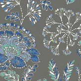 Albany Tropez Floral Dark Brown Wallpaper