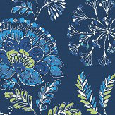 Albany Tropez Floral Dark Blue Wallpaper