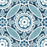 Albany Amalfi Ink Blue Wallpaper