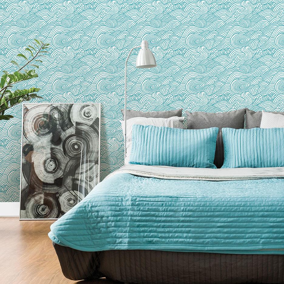Mare Wallpaper - Aqua - by Albany