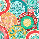 Albany Laguna Red/ Teal Wallpaper - Product code: 24147