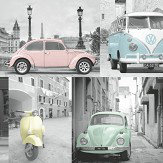 Albany VW Collage Pastel Multi Wallpaper