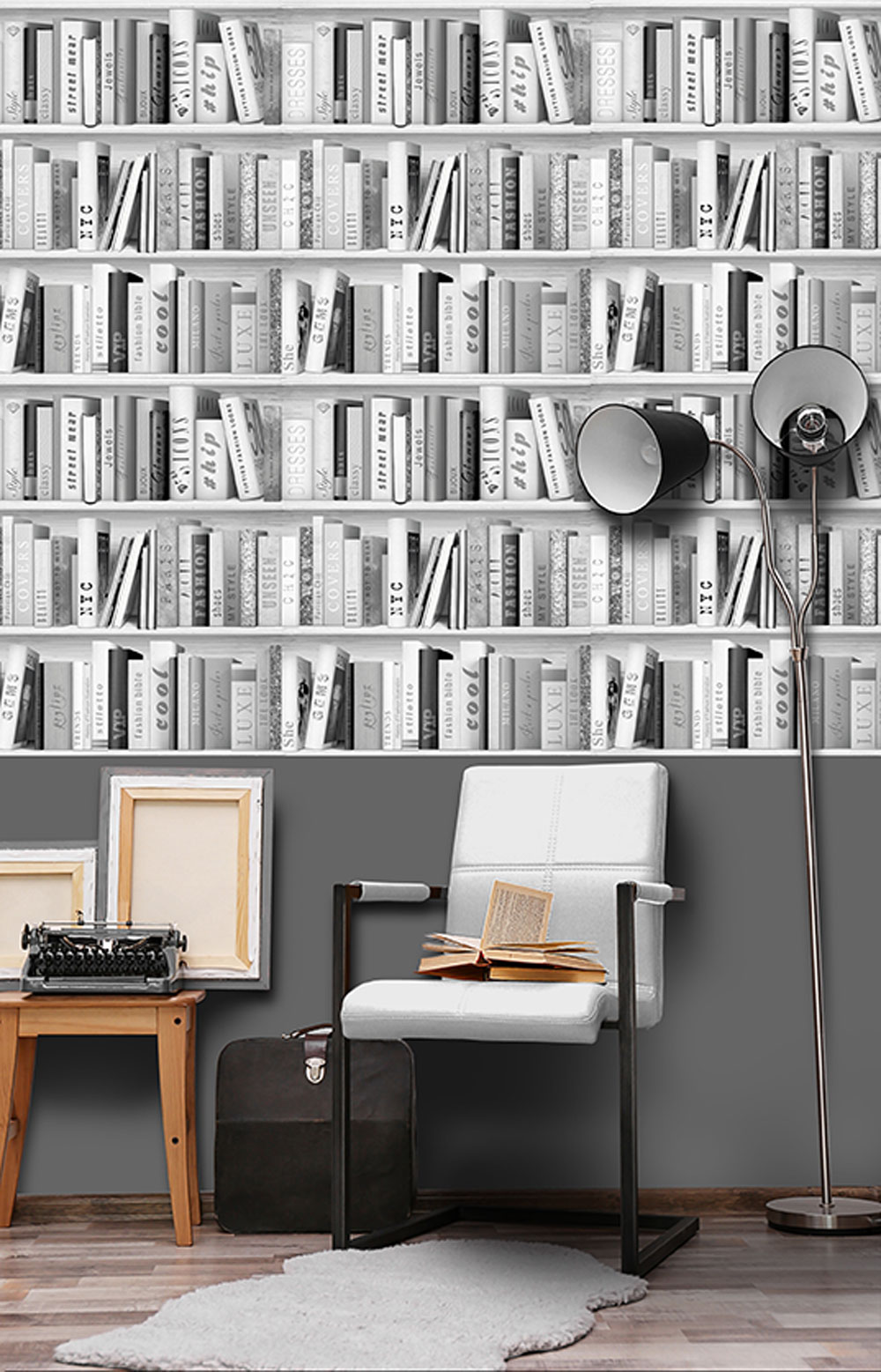 Albany Fashion Library Black and White Wallpaper - Product code: 139502