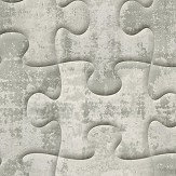 Albany Industrial Jigsaw Aluminium Wallpaper - Product code: 32703-4