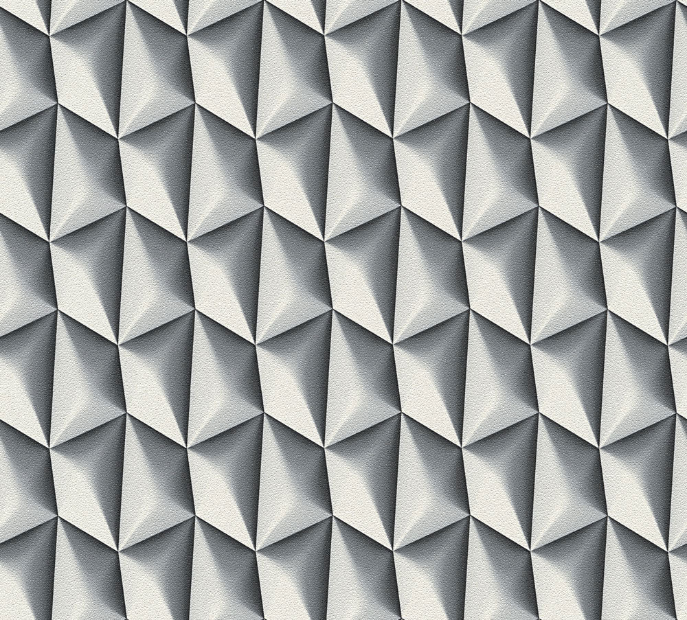 Albany Concrete Geometric Grey and White Wallpaper main image