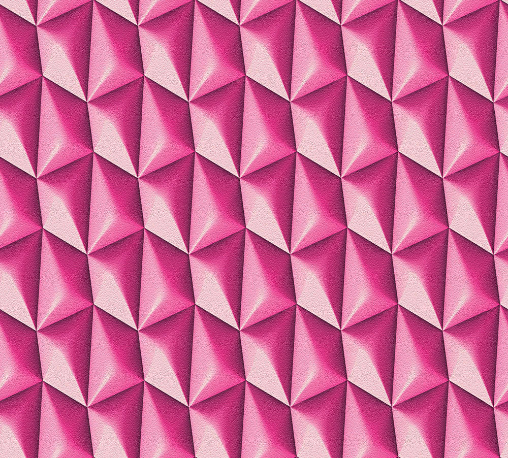 Albany Concrete Geometric Hot Pink Wallpaper main image