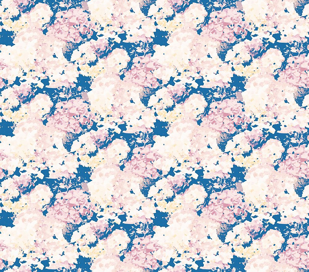 Aire Wilworth Blue / Pink Wallpaper main image