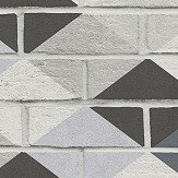 Albany Harlequin Brick Monochrome Wallpaper - Product code: 33088-1