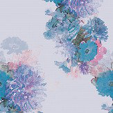 Aire Highgarth Blue / Purple foil Wallpaper