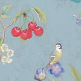 Eijffinger Cherry Pip Turquoise Wallpaper - Product code: 375022