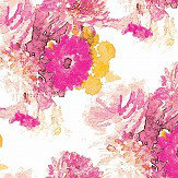 Aire Beardwood Pink / Yellow foil Wallpaper