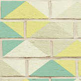 Albany Harlequin Brick Mint Pastel Wallpaper