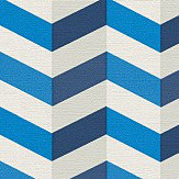 Albany Zigzag Blue Wallpaper