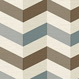Albany Zigzag Grey and Brown Wallpaper