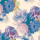 Aire Beardwood Purple / Blue foil Wallpaper