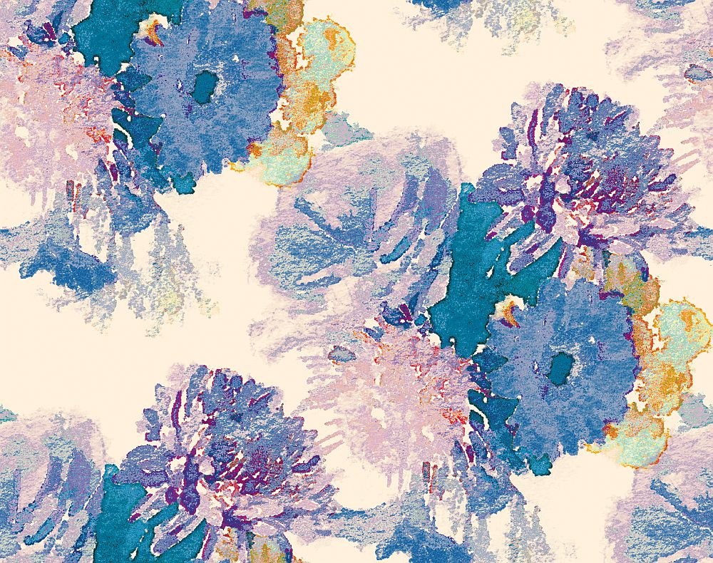 Aire Beardwood Purple / Blue foil Wallpaper main image