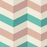 Albany Zigzag Pink and Green Wallpaper - Product code: 34123-5