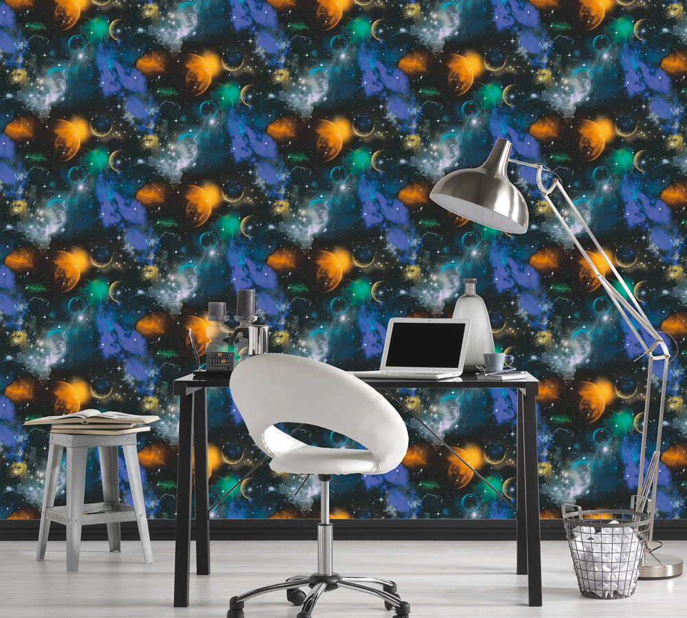 Albany Planet Space Multicoloured  Wallpaper - Product code: 34066-1