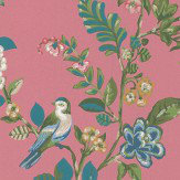 Pip Wallpaper Botanical Print Dark Pink Wallpaper