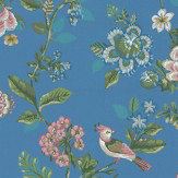 Eijffinger Botanical Print Blue Wallpaper - Product code: 375066