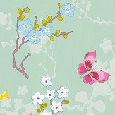 Eijffinger Chinese Rose Aqua Green Wallpaper - Product code: 375073
