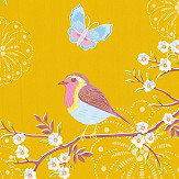 Eijffinger Early Bird Mustard Wallpaper - Product code: 375083