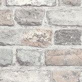 Albany Vintage Brick Pale Pink Brick Wallpaper