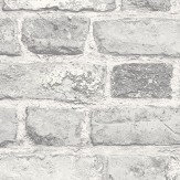 Albany Vintage Brick White Wallpaper