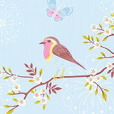 Eijffinger Early Bird Sky Blue Wallpaper - Product code: 375081