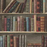 Albany Antique Shelf Red and Blue Wallpaper - Product code: L32008