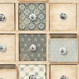 Albany Trinket Boxes Natural Wallpaper - Product code: L32607
