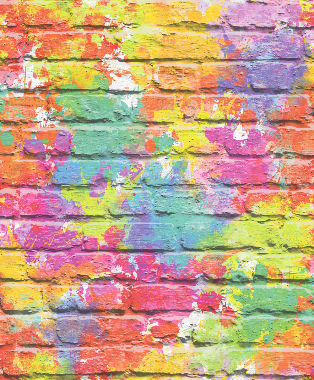 Albany Graffiti Wall Multicoloured  Wallpaper - Product code: L33505