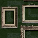 Albany Framed Dark Green Wallpaper
