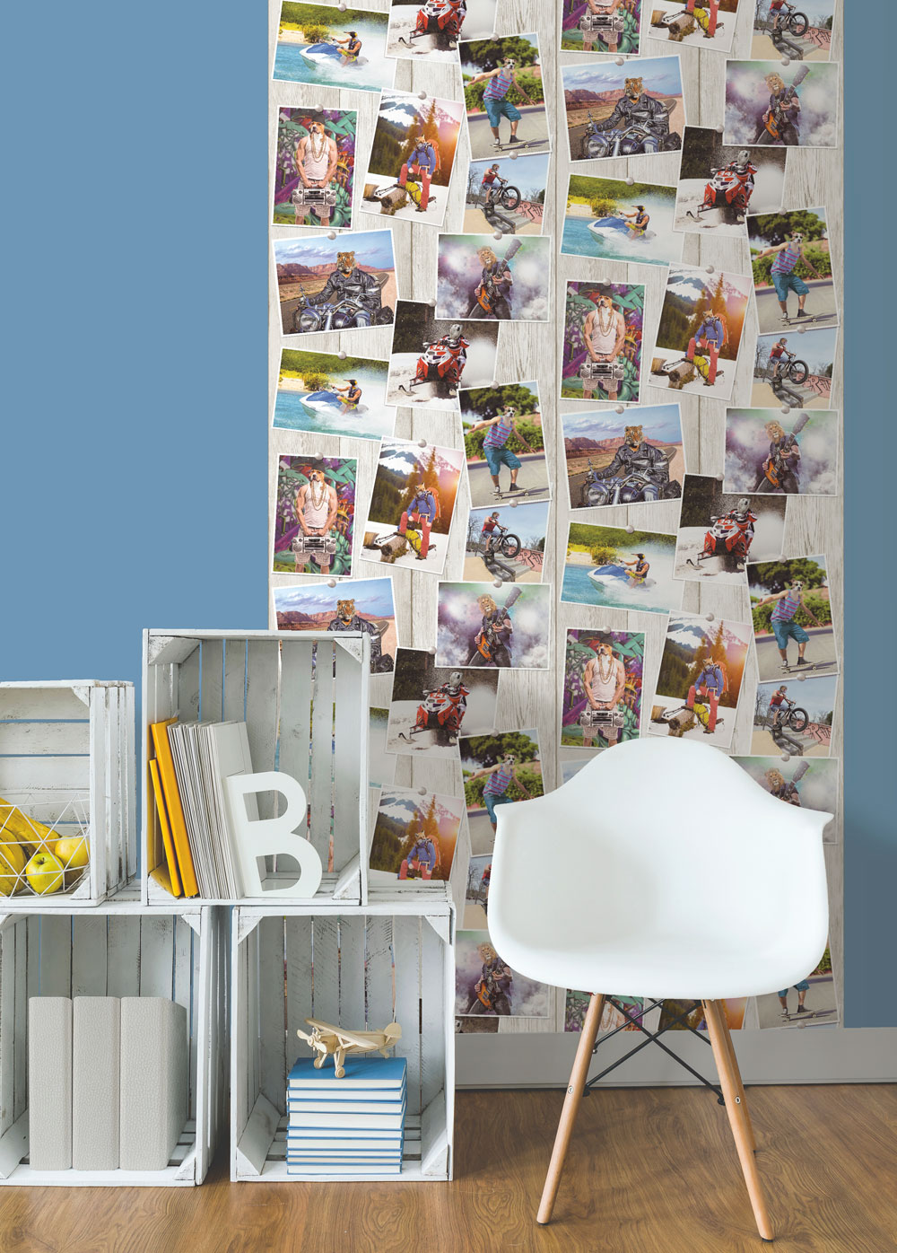 Albany Animal Selfies Full Colour Wallpaper - Product code: L39001
