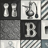 Albany Barber Shop Tile Blue Wallpaper - Product code: 578101