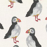 Prestigious Puffin Black / White Fabric