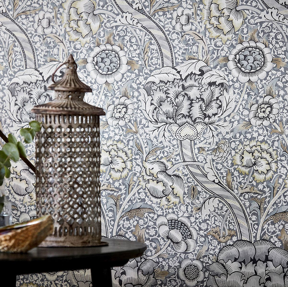 Morris Wandle Grey / Stone Wallpaper - Product code: 216423