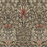 Morris Snakeshead Charcoal / Spice Wallpaper - Product code: 216425