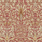 Morris Snakeshead Madder / Gold Wallpaper