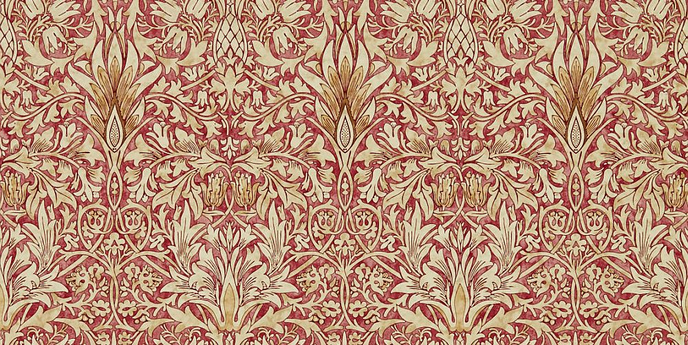 Morris Snakeshead Madder / Gold Wallpaper - Product code: 216426