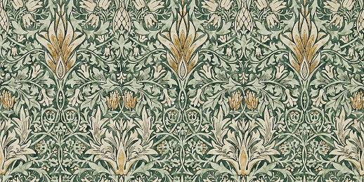 William Morris Snakeshead Pewter Lined Curtain Pairs /& Tie Backs