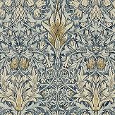Morris Snakeshead Indigo / Cumin Wallpaper