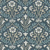 Morris Bellflower Indigo / Linen Wallpaper - Product code: 216436