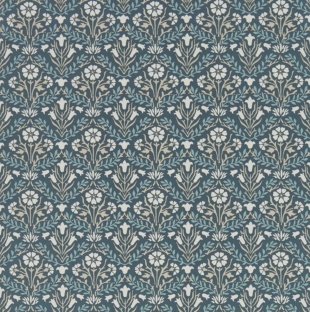 Morris Bellflower Indigo / Linen Wallpaper main image