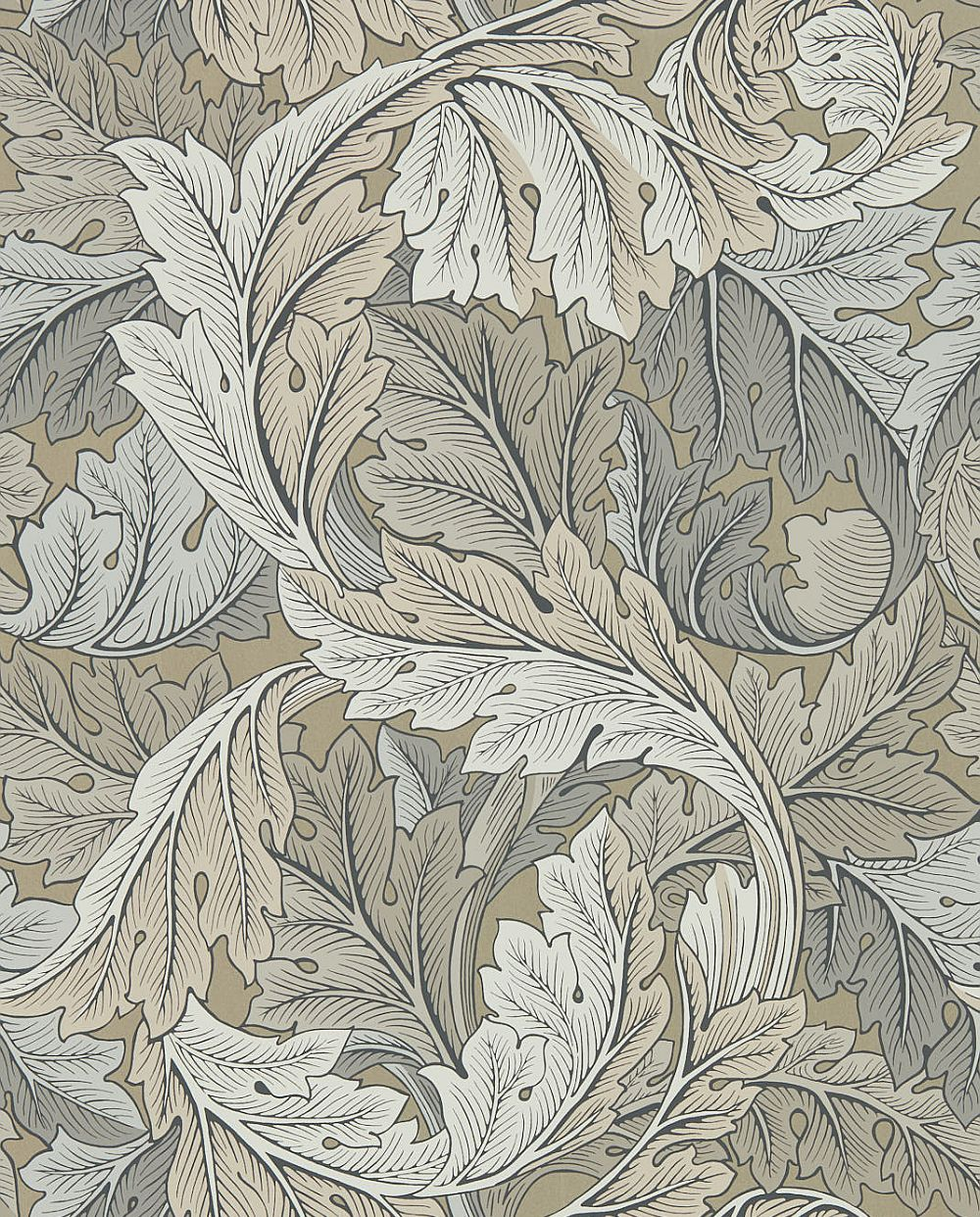 Morris Acanthus Manilla / Stone Wallpaper - Product code: 216441