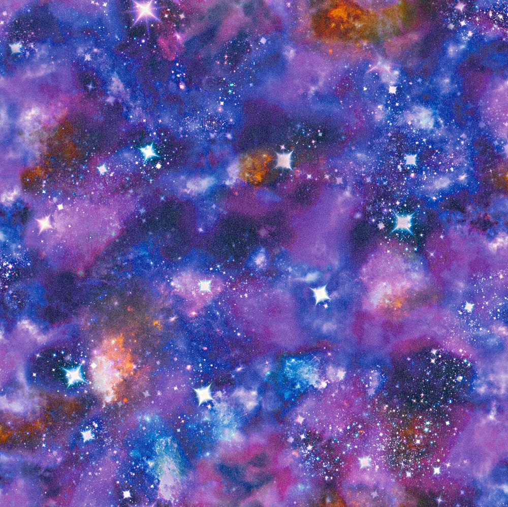Albany Galaxy Blue and Purple Wallpaper main image