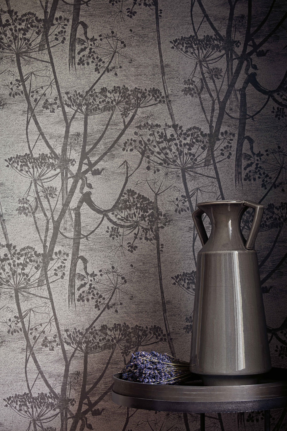 Cole & Son Cow Parsley Charcoal  Wallpaper - Product code: 112/8026