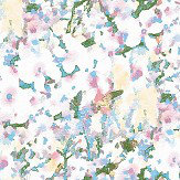 Aire Mellor Blue / Pink foil Wallpaper - Product code: 2016-106-05